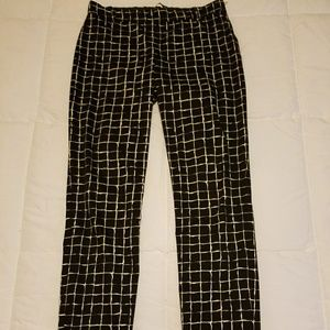 Black and white dress pants